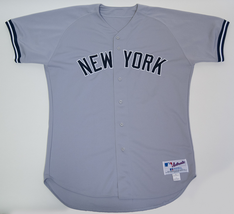... Derek Jeter Game Worn Used 2002 Yankees Road Jersey - Mears LOA ... c0ff242f944