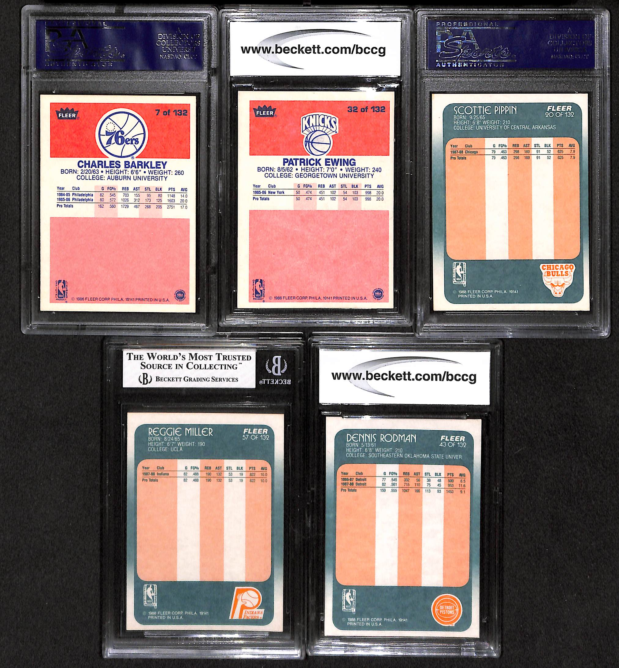 Lot Of 5 Basketball Graded Rookie Cards From