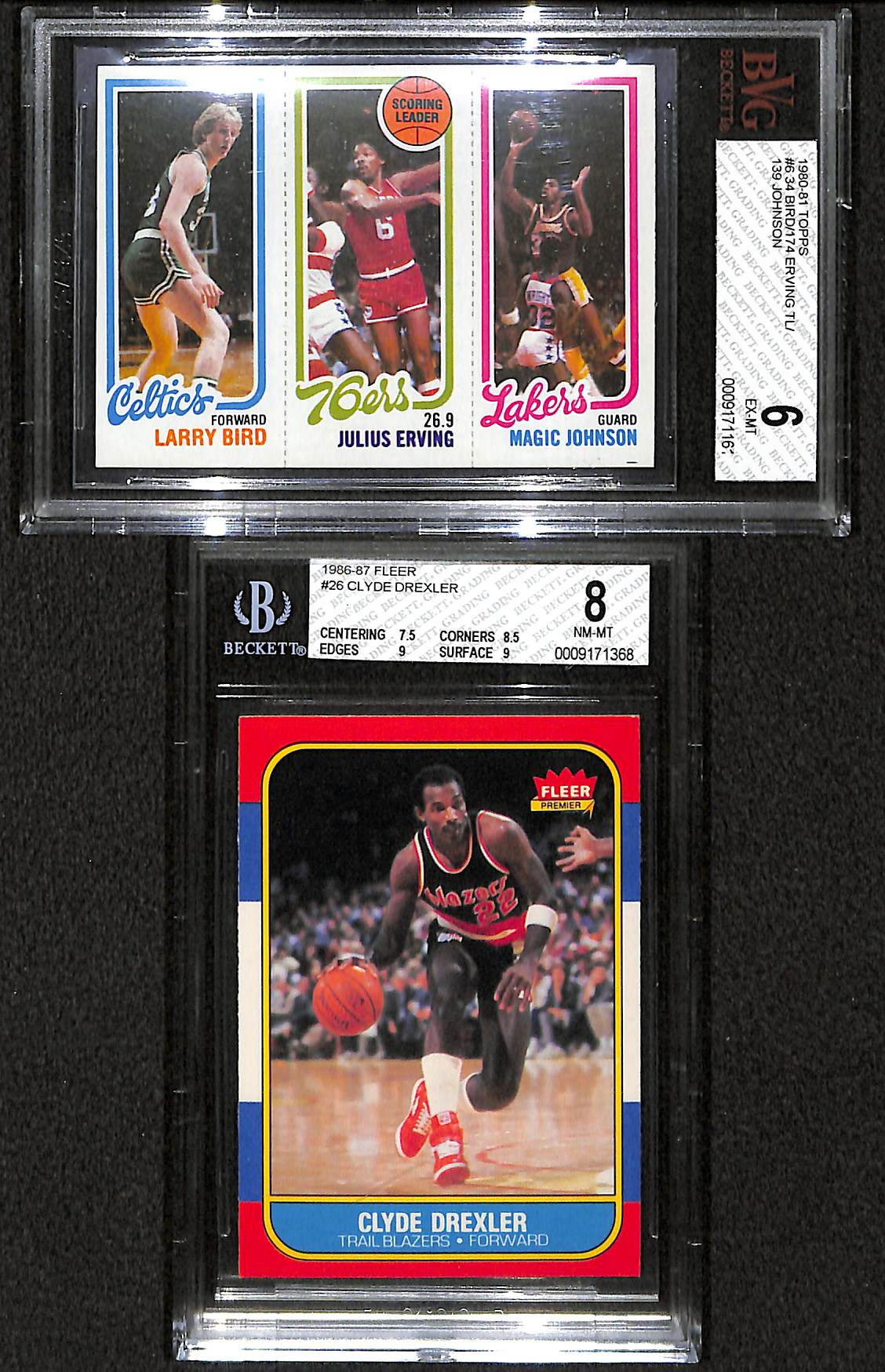 Lot Detail Lot Of 2 1980s Star Basketball Rookie Cards