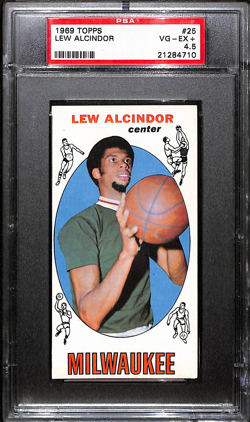 Lot Detail 1969 Topps Lew Alcindor Rookie Card Psa 45