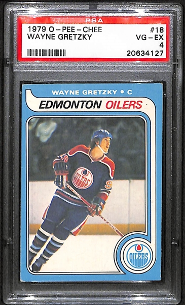 Lot Detail 1979 O Pee Chee Wayne Gretzky Rookie Card Psa 4