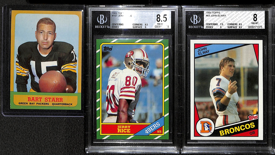 Lot Detail Lot Of 3 Football Star Topps Cards Including
