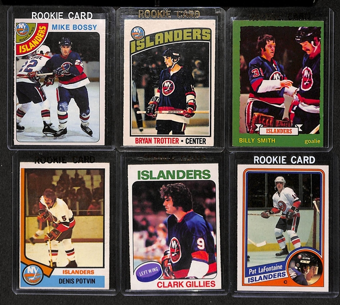 Lot Detail - Lot Of 6 O-Pee-Chee New York Islanders Rookie