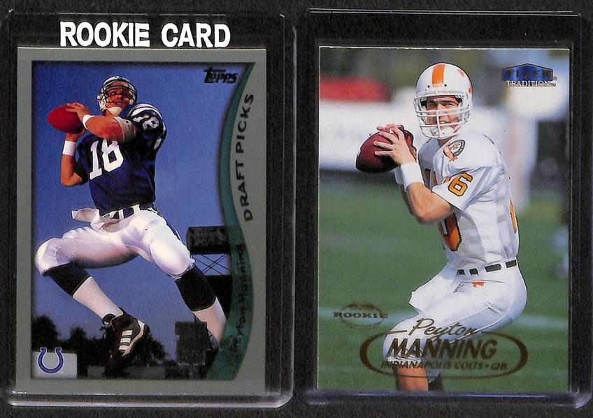 Lot Detail Lot Of 8 Peyton Manning Rookie Cards