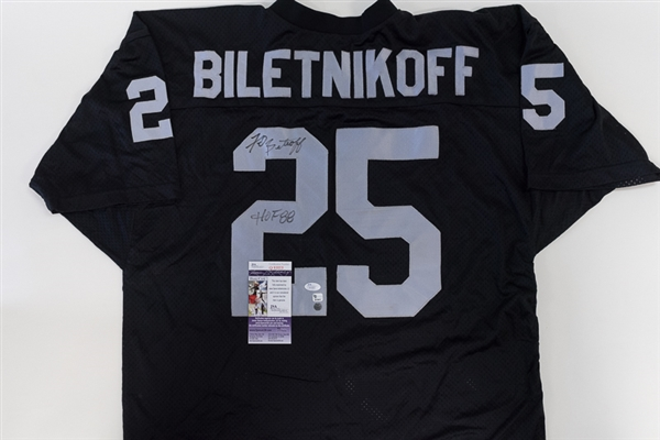 cheap for discount 2eb8d ed788 Lot Detail - Fred Biletnikoff Autographed Oakland Raiders ...