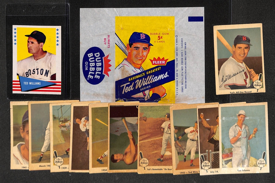 Lot Detail 1959 Fleer Ted Williams Original Wrapper 11 1959