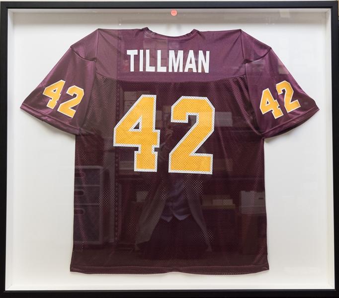 more photos e2b10 35f33 Lot Detail - Pat Tillman Shadowboxed Arizona State Jersey