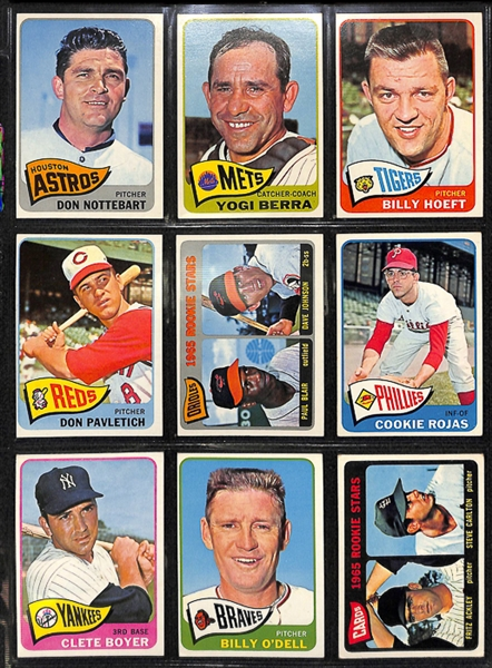 1965 Topps Baseball Complete Set w. BVG Mantle 5.0, BVG Aaron 5.0, & BVG Rose 4.5