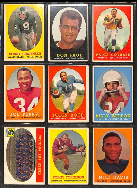 1958 Topps Football Complete Set w. Jim Brown Rookie Card