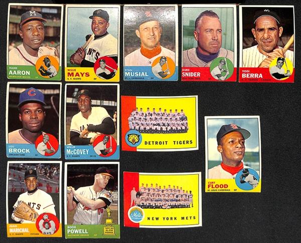 Lot Detail Lot Of 400 1963 Topps Baseball Cards W