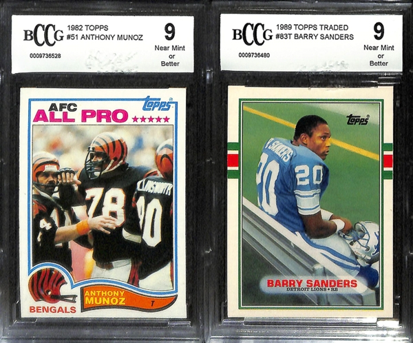 Lot Detail Lot Of 6 Bccg Graded Football Rookie Cards W