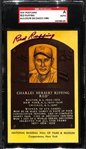 Red Ruffing Autographed HOF Plaque Card (SGC Authenticated and Slabbed)