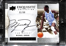 2012-13 Upper Deck Exquisite Michael Jordan Autograph #ed 91/99