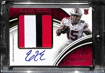 Ezekiel Elliot 2016 Immaculate Collection Premium Patch Autograph Rookie Card #ed 83/99 (Ohio State & Dallas Cowboys)