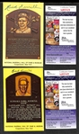 Earl Averill and Rick Ferrell Signed Baseball Hall of Fame Plaque Post Cards (w/ JSA COAs) - Lot of (2)