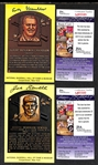 Happy Chandler and Joe Sewell Signed Baseball Hall of Fame Plaque Post Cards (w/ JSA COAs) - Lot of (2)