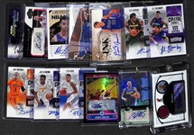 Lot of (13) Certified Autograph Basketball Cards inc. Vince Carter, Carmelo Anthony, Dwyane Wade, Jaylen Brown