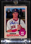 2017 Topps Heritage Andrew Benintendi Real One Blue Ink Certified Autograph Rookie Card (Red Sox)