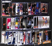 Lot of Over 50 Basketball Insert, Star, Jersey & Rookie Cards!  Inc. Magic Johnson Autograph, (4) Harden Rookie, 2 D. Russell Rookie