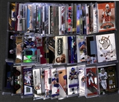 Lot of (45) Certified Football Relic/Jersey Cards w/ Winston, A. Cooper, Hines Ward, A. Petereson, Troy Polamalu,Peyton Manning, Eli Manning, Roger Staubach, D. McNabb, +