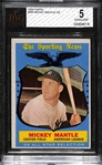 1959 Topps #564 Mickey Mantle All Star Graded BVG 5 (EX)