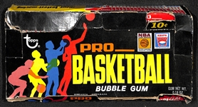 1971-72 Topps Basketball Partially Sealed Wax Box - 7 Sealed Packs In Original Box