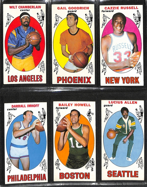 Lot Detail 1969 70 Topps Basketball Complete Set 99 Cards W Lew
