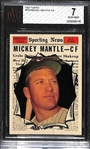1961 Topps #578 Mickey Mantle All-Star Graded BVG 7 (NM)