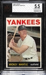 1964 Topps #50 Mickey Mantle Graded BVG 5.5 (EX+)