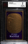 1965 Topps Embossed #11 Mickey Mantle Graded BVG 7 (NM)