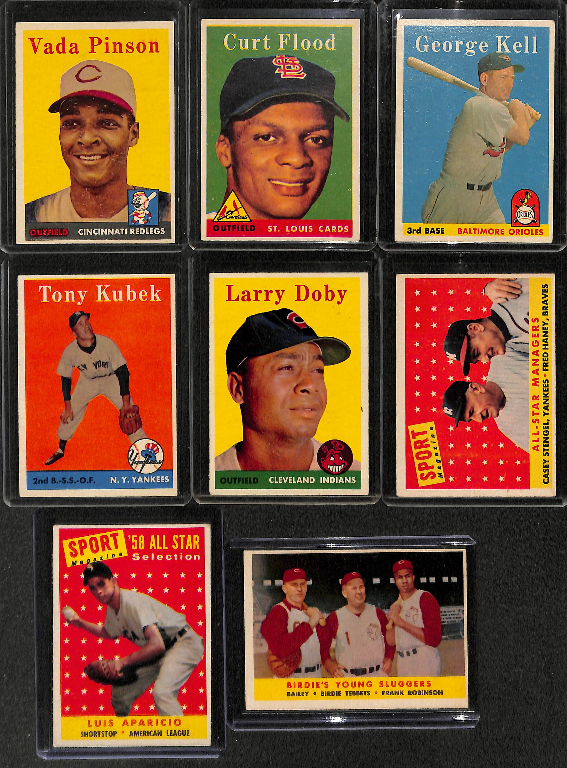 Lot Detail Lot Of 150 1958 Topps Baseball Cards W Bill