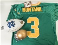 Lot of Notre Dame Collectibles Including Joe Theismann Signed Football