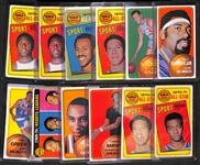Lot of 12 1970-71 Topps Basketball Cards w. Wilt Chamberlain