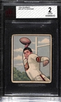1950 Bowman Football Otto Graham (Rookie) #45 Graded BVG 2