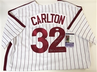 "Steve Carlton Signed Cooperstown Collection Phillies Jersey w ""80 WS Champs"" Inscription (JSA)"