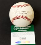 Willie Mays Autographed Official National League Baseball (SGC COA)