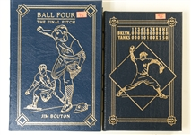 Limited Edition Hardback Baseball Books Signed by Don Larsen and Jim Bouton