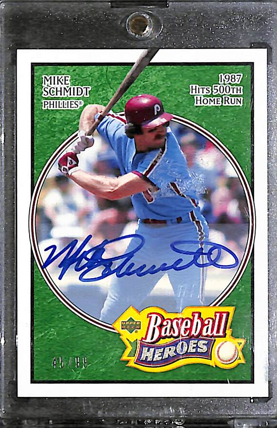 Lot Detail 2005 Upper Deck Baseball Heroes Mike Schmidt