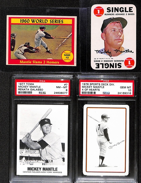 Lot Detail Lot Of 4 Mickey Mantle Cards Inc 2 Psa