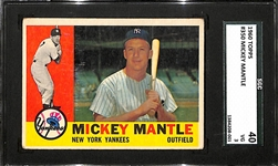 1960 Topps Mickey Mantle #350 SGC 40 (VG)