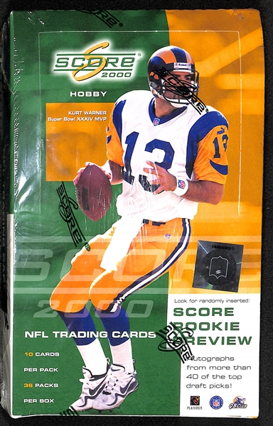 2000 Score Hobby Football Unopened Wax Box (Tom Brady's Rookie Year)