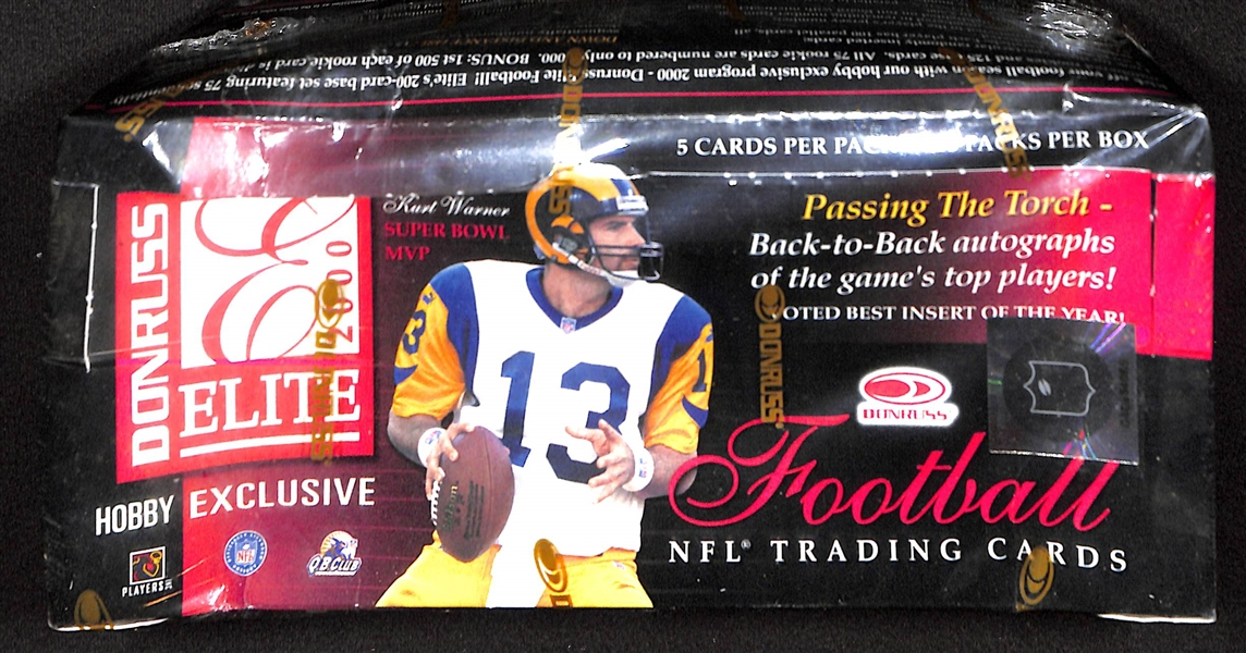 2000 Donruss Elite Football Unopened Wax Box (Tom Brady's Rookie Year)