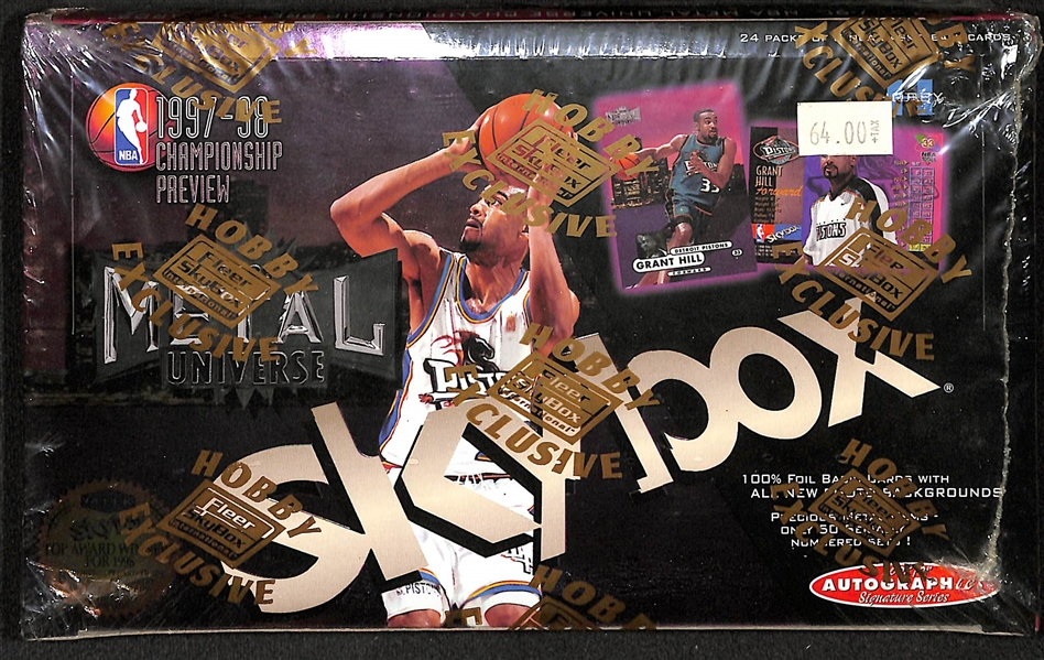 1997-98 Skybox Metal Universe Championship Preview Unopened Basketball Hobby Box