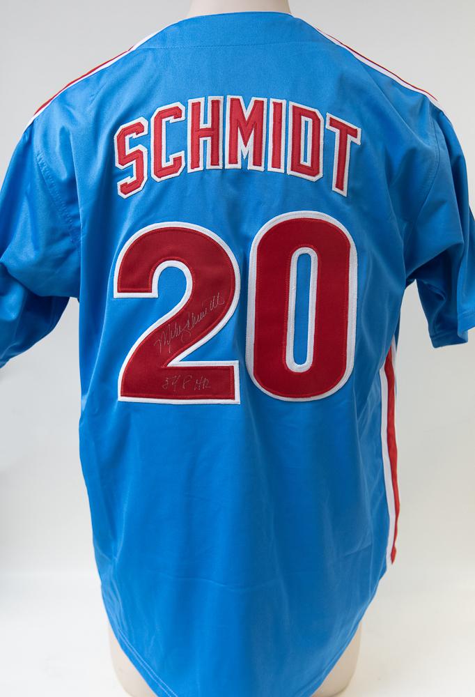 best service 3f412 5e56d Lot Detail - Mike Schmidt Signed Phillies Jersey - JSA