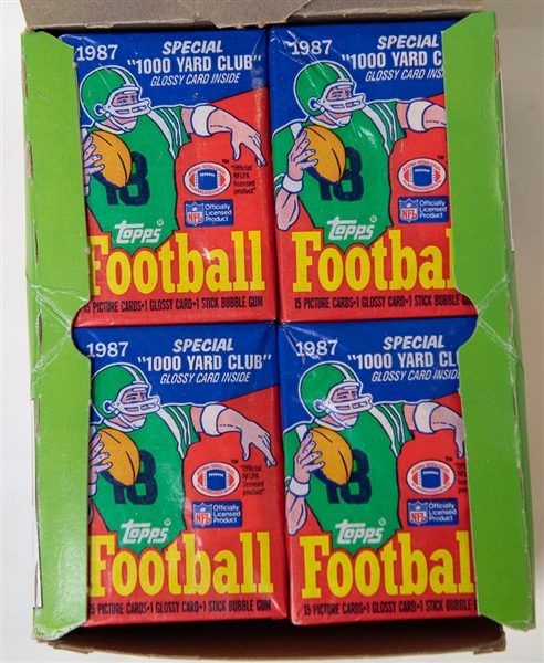 1987 Topps Football Unopened Wax Box - Jim Kelly, R. Cunningham, D. Flutie Rookie Year