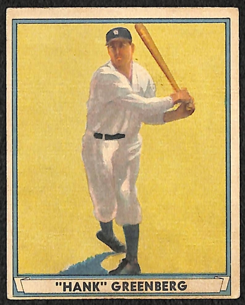 1941 Play Ball Hank Greenberg (HOF) G-VG