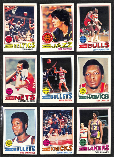 1977-78 Topps Basketball Card Set w/ Robert Parish Rookie (132 Cards)