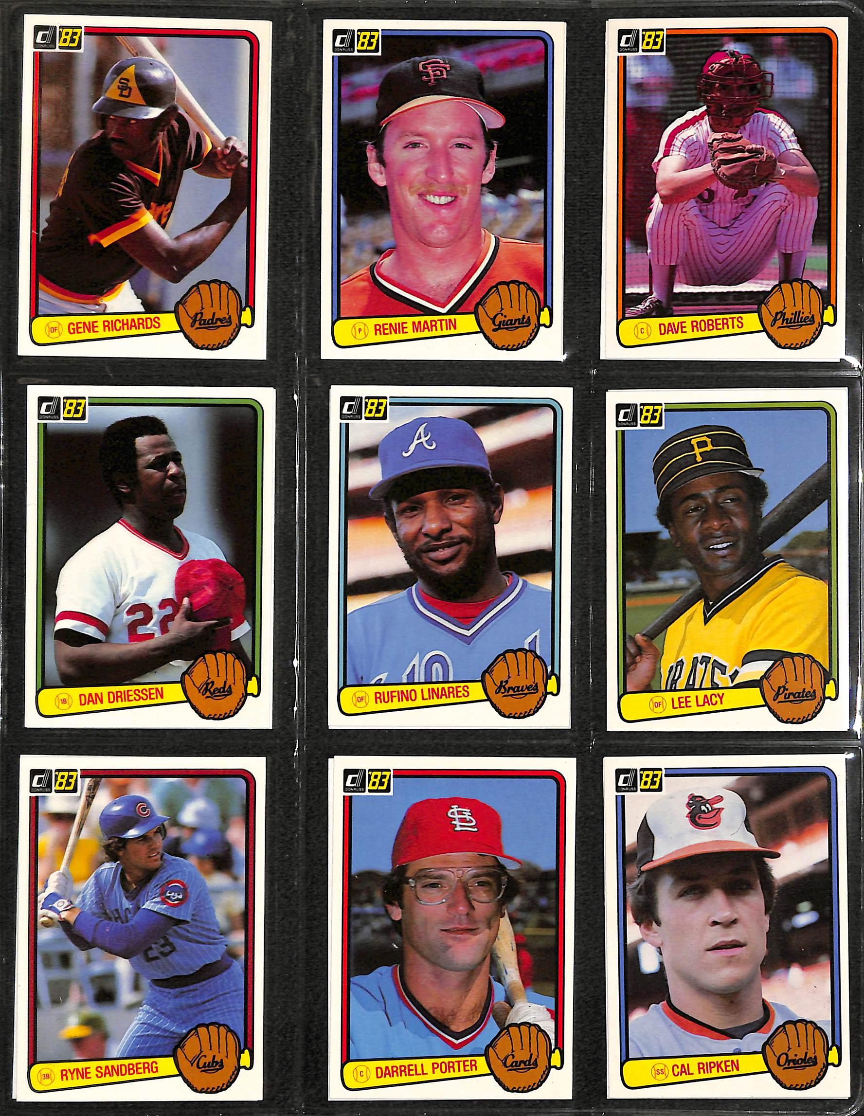 Lot Detail 1983 And 1984 Donruss Baseball Card Sets In A Binder