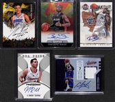 Lot Of 5 Basketball Stars Autograph Cards w. Wade - Anthony - Gordon