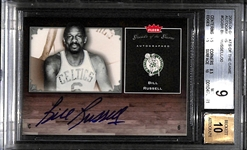 2005-06 Fleer Greats Of The Game Bill Russell SP Autograph Card Graded BGS 9 (w/ 10 Autograph Grade)